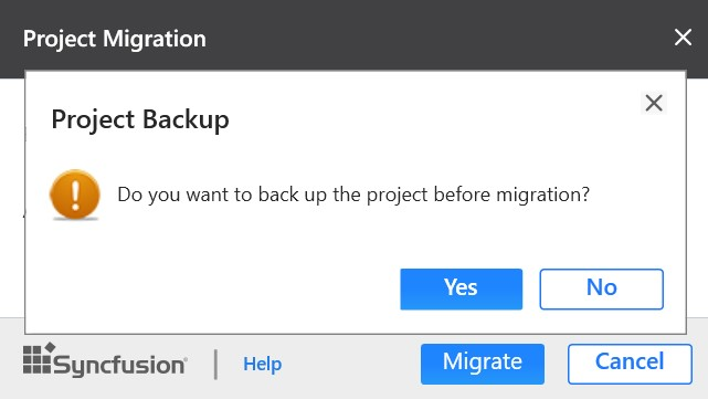 project migration backup